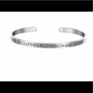 Jewelry - Stainless Steel Mantra Band Cuff